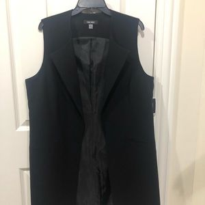 NWT Nine West Black Long Vest